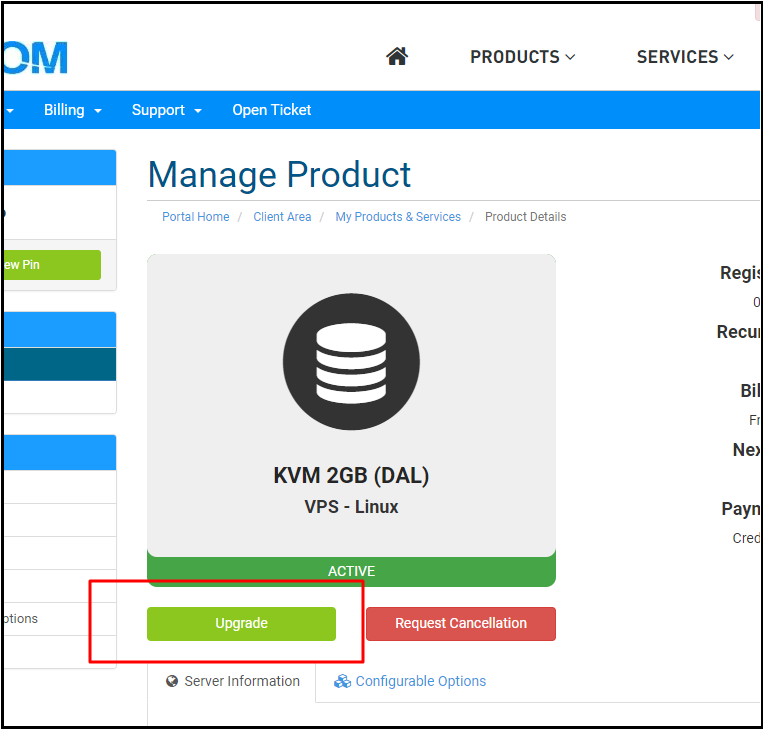 How do i upgrade or downgrade my VPS? - Knowledgebase - IO Zoom