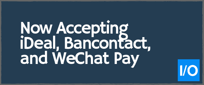 wechat pay, ideal, bancontact
