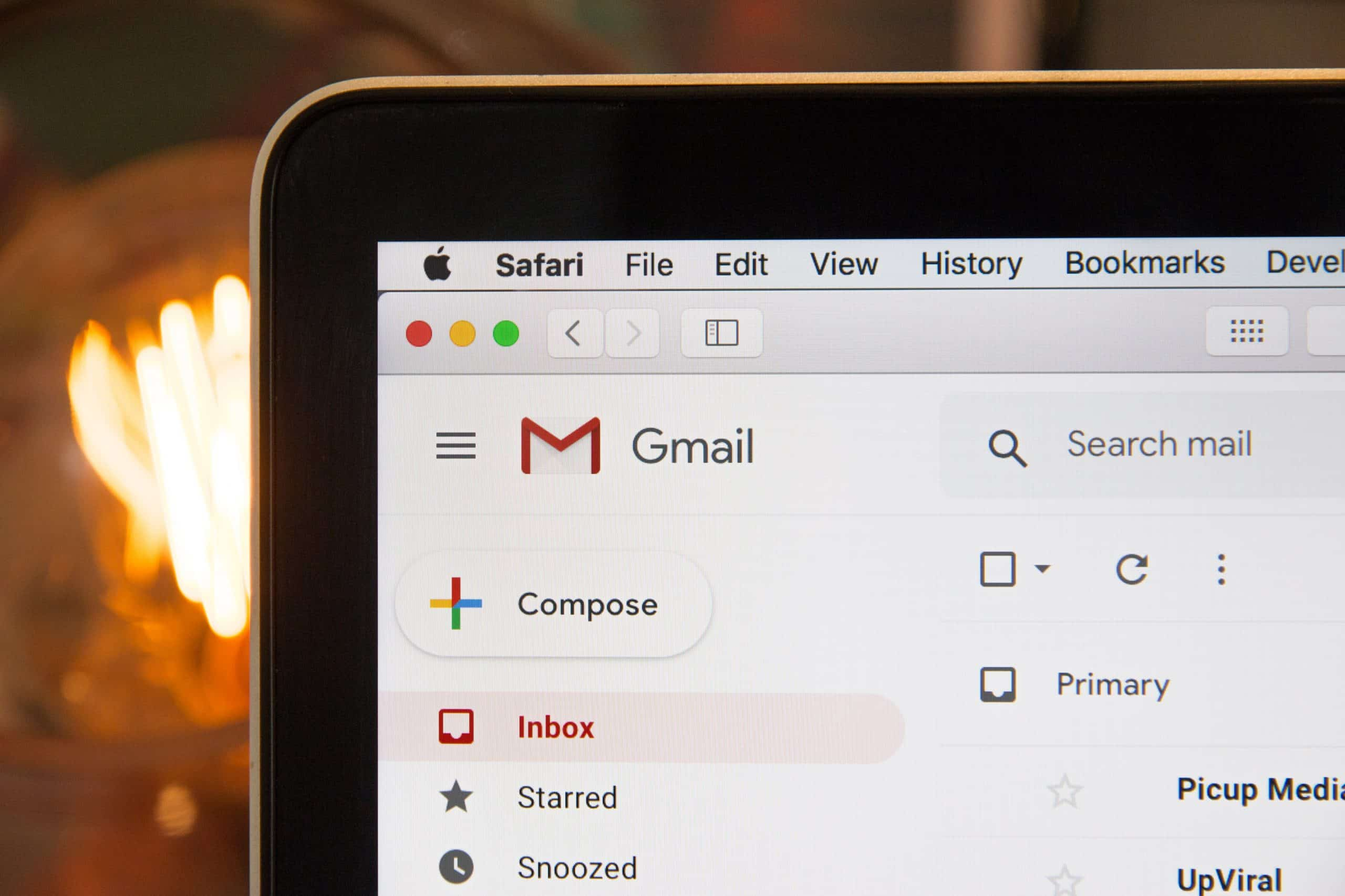 gmail email on a computer