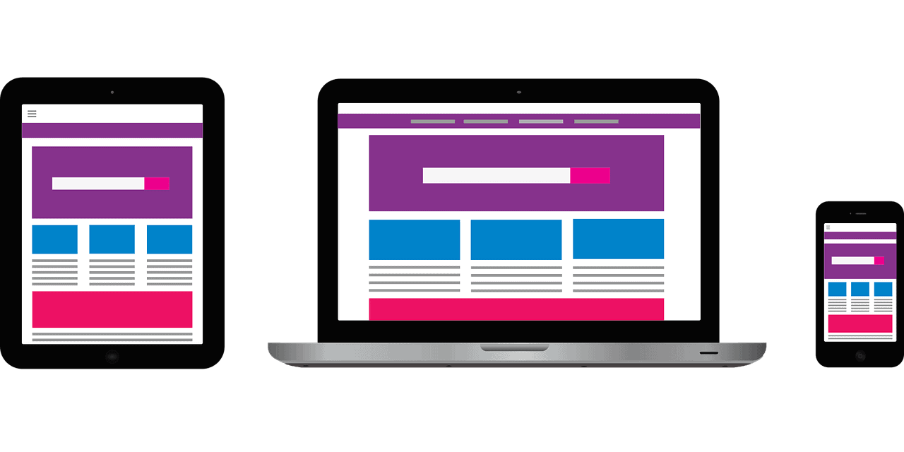 website design ux on laptop and mobile