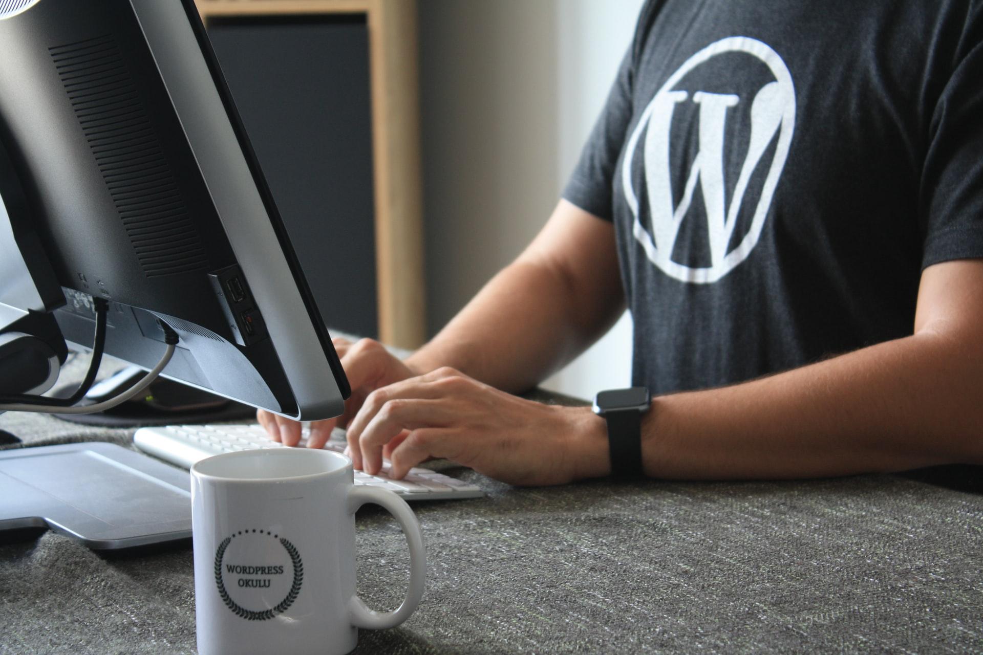 guy wearing wordpress logo